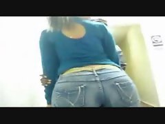 Mizz Irreproachable Big black naughty bum in jean
