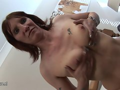 Perfect amateur cheating wife playing all alone