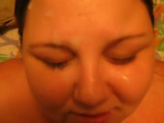 Giveing My Big beautiful woman Better half Facial
