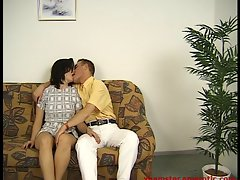 Amateur couple in Pornocasting