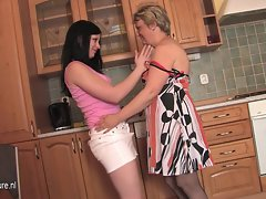 Aged mum Carmel loves caressing 18yo Linetta