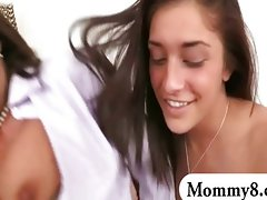 Experienced mother in law analed with a luscious teen couple