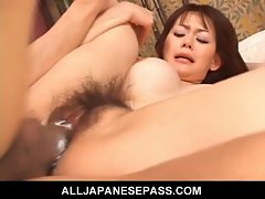 Mad sex for Rina Wakamiya and two horndogs