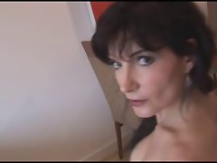 Dark haired Mum Posing 01