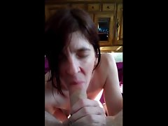 Kristi licking my shaft and riding her toy