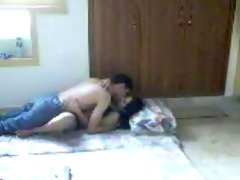 Sensual desi female making love with her boy on hidden cam
