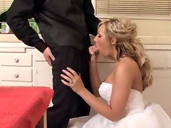blond bride receives a banging