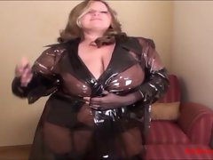 PVC married woman in attractive nylons