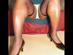 TGirl 5mins of Upskirt Stockings 310