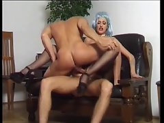 Asia D'Argento ebony stockings sex 2