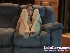 Lelu Love-Foot Vixen Jerkoff Encouragement