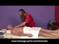 Aurora Snow Gets Cum All Over Her Knockers After Massage