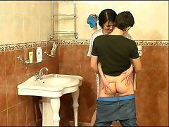 Lad fuck attractive mom on bathroom -who is she
