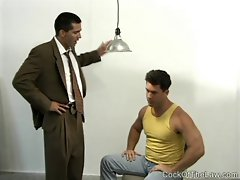 An interrogation turns to gay sex