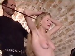 French Soumisive young woman rough spanked 1