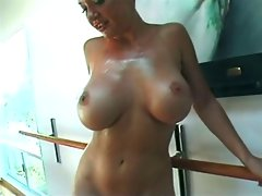 Luscious tempting blonde toyed and analed