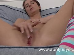 Aged cheating wife reaching an orgasm