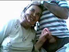 Older couple has fun on web cam- Amateur elder