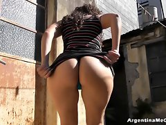Amazing Big and Round Naughty ass on White Latin Teen. Blameless Ass!