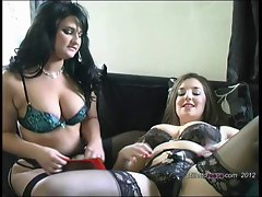 Top heavy lesbos enjoyment each other and climax with stilettos