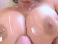 Lewd Bigtitted Puma Cock sucking and Titfuck