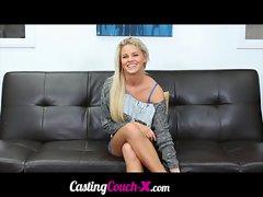 CastingCouch-X Amateur Tempting blonde Audition Tape