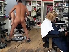 English whore Taylor gets banged at the hairdressers