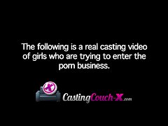 CastingCouch-X Slutty Stiff Amateur Auditions For Porn Cast