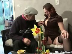 Younger wenches share experienced dick