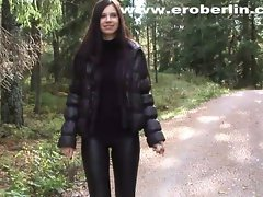 Eroberlin leggings fetish long hair lange haare barely legal teen walking