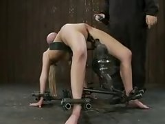 big bound knockers banged by a machine