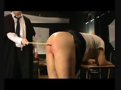 BDSM Caning - Eight Caresses Over Bare Bottom