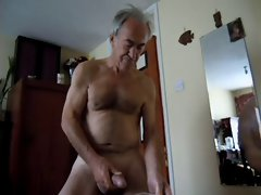 fellow delighted wanking jerking naked to cum