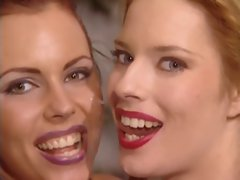 English whore Goldie and US Angelica in a FFM crazy threesome action