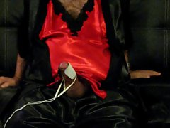 Red Satin Nightie and TENS