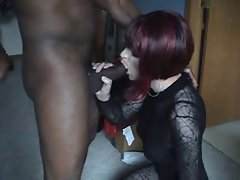 Awesome looking lady? gives a nice cock sucking
