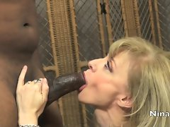 Sensuous Nina Hartley loves slurping on this stiff shaft