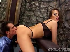 Sizzling Nika Noire loves getting her filthy stunning anal eaten