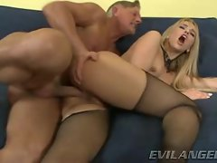Aleksa Diamond gets her narrow stunning anal stuffed with penis