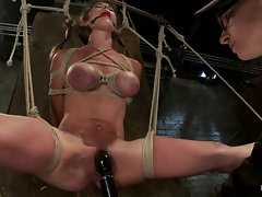 Luscious slutty girl Felony gets her dripping snatch tormented