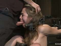 Kristina Rose gets her mouth stuffed with prick