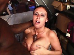 Bella Blaze gets her knockers sprayed with lewd jizz