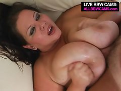 Amazing Cute bbw superstar with her wow obese knockers Part 2