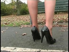 Debbie dresses to make your foot fetish juices run crazy