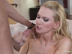 Blake Rose gets showered with cum after a brutal fuck
