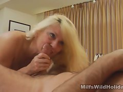 Giving blowjob and Riding Mommy
