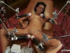 Tempting Bailey Brooks gets toy banged up her slit