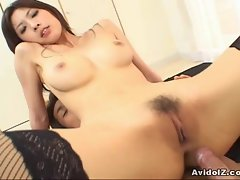 Hottest Asian Ricko Tachibana crushed by cock!