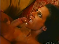 Sydnee Steele gets her face plastered with cum