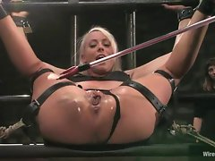 Slutty Lorelei Lee gets tied up & her sexy fanny tormented